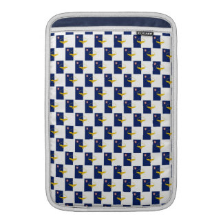 Azores flag seamless pattern sleeve for MacBook air