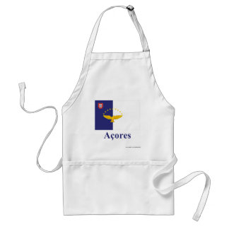 Azores Flag with Name in Portuguese Aprons