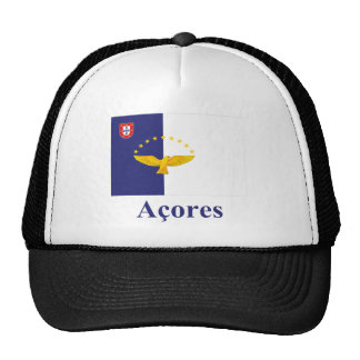 Azores Flag with Name in Portuguese Trucker Hat