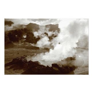 Azores (Furnas) hot springs Photo Print