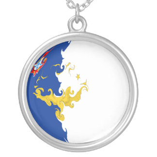 Azores Gnarly Flag Silver Plated Necklace