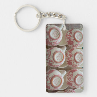 Azores handpainted pottery acrylic key chains