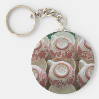 Azores handpainted pottery keychain