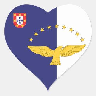 azores heart sticker