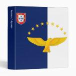 Azores islands flag 3 ring binder