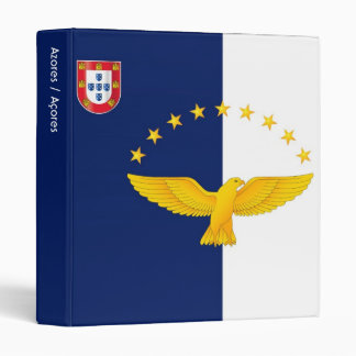 Azores islands flag 3 ring binder