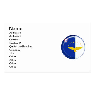 Azores islands flag business card