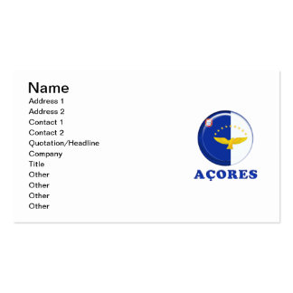 Azores islands flag business card template