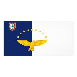 Azores islands flag card