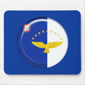 Azores islands flag mouse pad