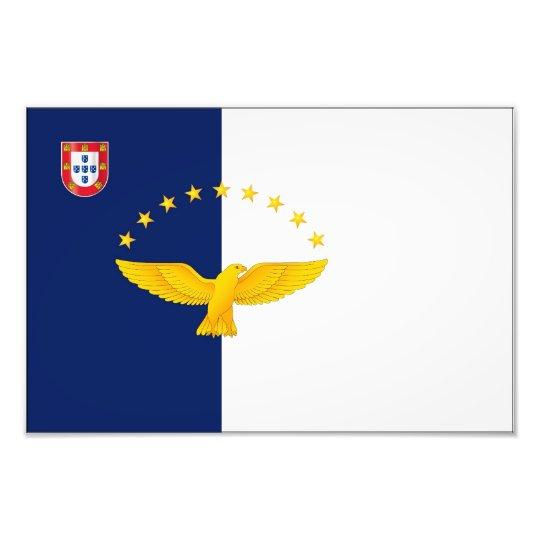 Azores islands flag photo print