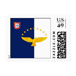 Azores islands flag postage stamp