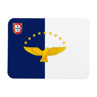 Azores islands flag rectangular photo magnet