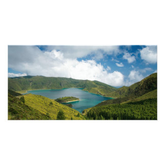 Azores lake landscape card
