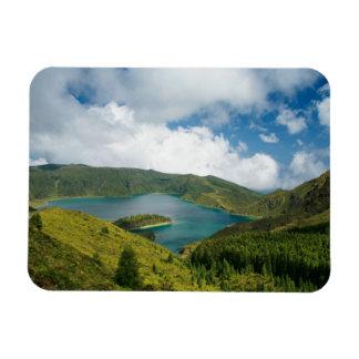 Azores lake landscape magnet