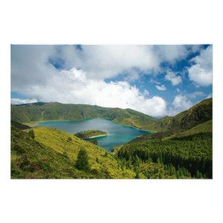 Azores lake landscape photographic print