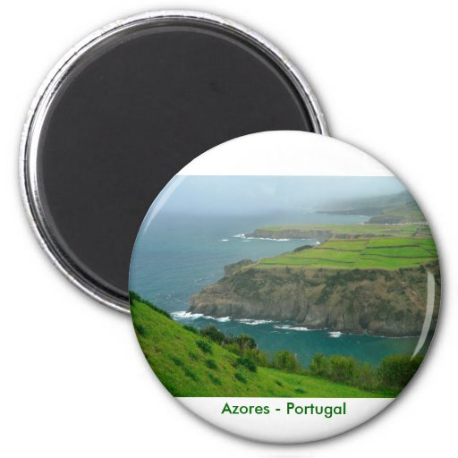 Azores landscape 2 inch round magnet