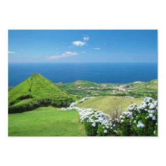 Azores landscape 5x7 paper invitation card