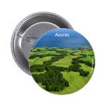 Azores landscape pinback button