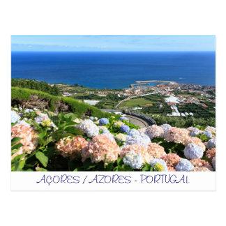 Azores landscape postcard