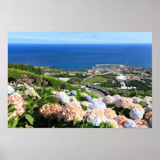 Azores landscape poster