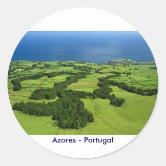 Azores landscape classic round sticker