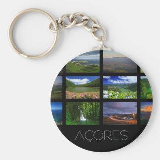 Azores Landscapes Basic Round Button Keychain