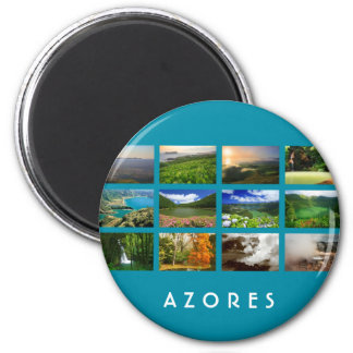 Azores Landscapes 2 Inch Round Magnet