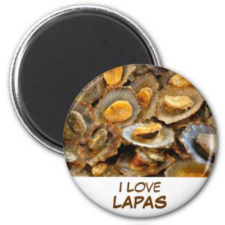"Azores limpets ""lapas"" 2 inch round magnet"
