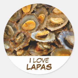 """Azores limpets """"lapas"""" classic round sticker"""