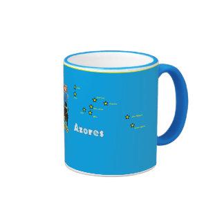 Azores Map*, taza de las islas de Azores