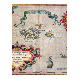 Azores Old Map - Vintage Sailing Exploration Flyer