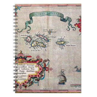 Azores Old Map - Vintage Sailing Exploration Notebook