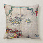 Azores Old Map - Vintage Sailing Exploration Pillows