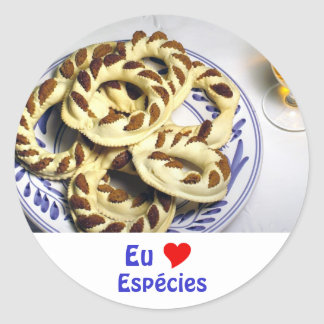 Azores pastry - Espécies Classic Round Sticker