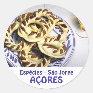 Azores pastry - Espécies Classic Round Sticker