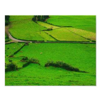 Azores pastures custom invitations
