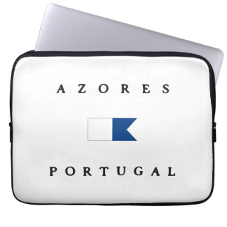 Azores Portugal Alpha Dive Flag Laptop Computer Sleeves