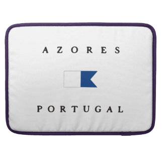 Azores Portugal Alpha Dive Flag Sleeve For MacBooks