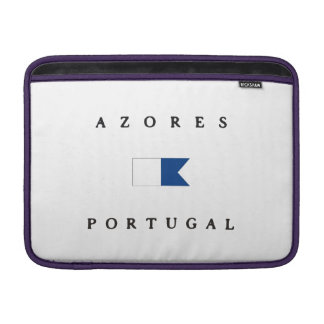 Azores Portugal Alpha Dive Flag MacBook Sleeves