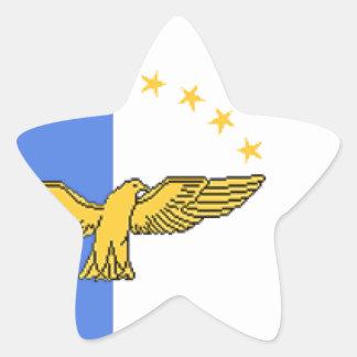 Azores (Portugal) Flag Star Sticker