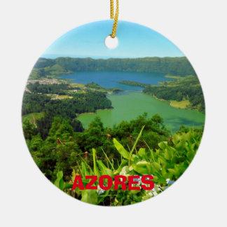 Azores Sete Cidades Christmas Ornament