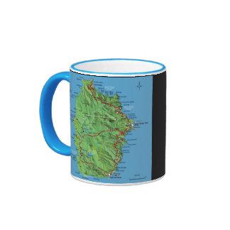 Azores - taza de café del mapa de Flores