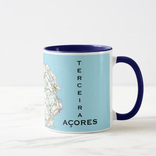 Azores- Terceira* Map Custom Mug