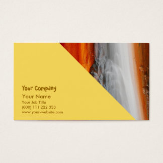 Azores thermal water business card