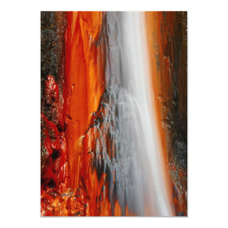 Azores thermal water 5x7 paper invitation card