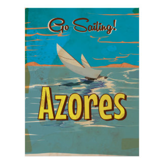 Azores vintage travel poster