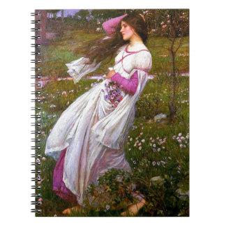 Azotado por el viento por John William Waterhouse Cuadernos
