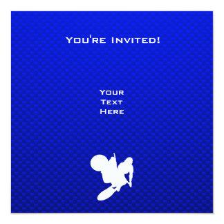 Azote azul del motocrós invitación 13,3 cm x 13,3cm