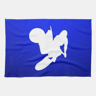 Azote azul del motocrós toallas